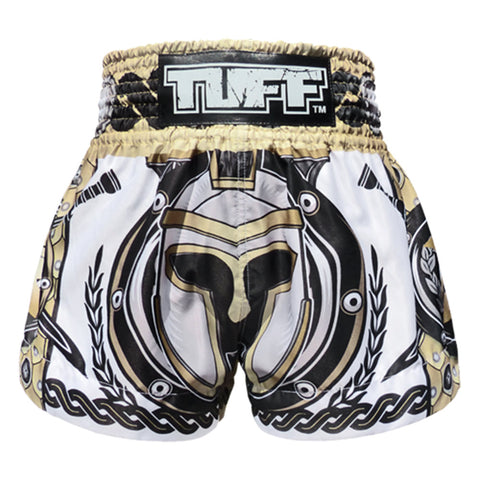 Tuff Muay Thai Boxing Shorts White Gladiator