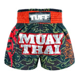 TUFF Muay Thai Boxing Shorts New Green Military Camouflage