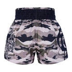 TUFF Muay Thai Boxing Shorts New Grey Military Camouflage