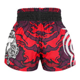 TUFF Muay Thai Boxing Shorts New Red Military Camouflage