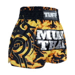 TUFF Muay Thai Boxing Shorts New Yellow Military Camouflage
