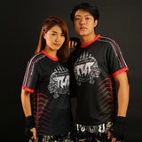 TUFF Muay Thai Shirt True Power Double Tiger Black