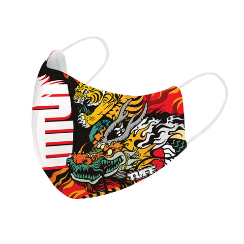 TUFF Fabric Mask Chinese Dragon and Tiger