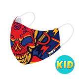 TUFF Fabric Mask Red Skull ( KID )