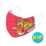 TUFF Fabric Mask Pink with Classic Rose ( KID )