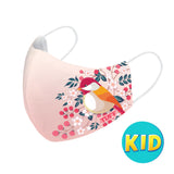 TUFF Fabric Mask Pink with Bird Pattern ( KID )