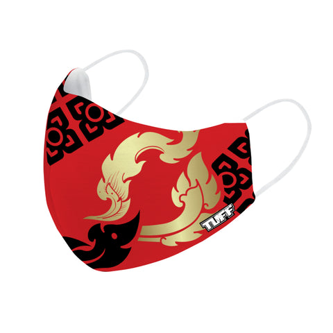 TUFF Fabric Mask Red with THAI Kanok Pattern