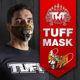 TUFF Fabric Mask Black with Bird Pattern
