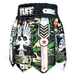 TUFF Muay Thai Boxing Shorts Gladiator Brown Military Warrior