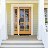 10-Lite Beveled Glass Douglas Fir Door