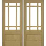 Krosswood Douglas Fir 3/4 Lite Prairie Double Door with Beveled Glass | UberDoors