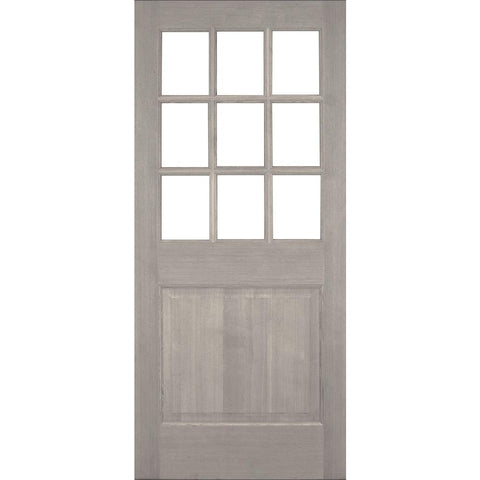 Krosswood Raised Panel 9-Lite  Beveled Glass Douglas Fir Door | UberDoors