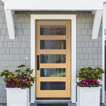 Hemlock Modern Exterior Door with 5-Lite Window