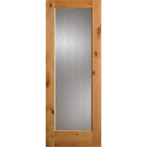 Krosswood Knotty Alder Full Lite Rain Glass Exterior Door | UberDoors