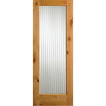 Knotty Alder Full Lite Reeded Glass