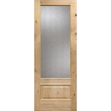 Knotty Alder 3/4 Lite Rain Glass Exterior Door
