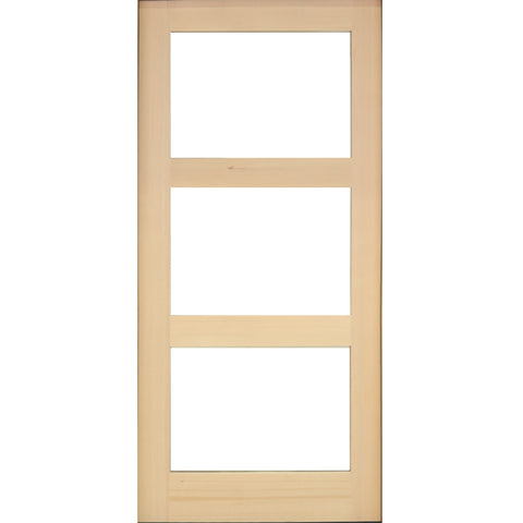 Hemlock Modern Exterior Door with 3-Lite Window