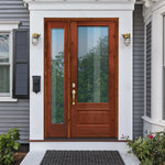 Knotty Alder 3/4 Lite Clear Glass Exterior Door