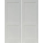 Krosswood Primed MDF 2 Panel Shaker Double Door | UberDoors