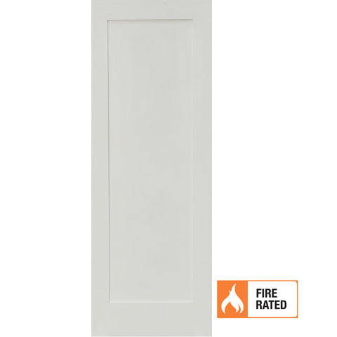 Primed MDF 1 Panel Shaker Fire Door