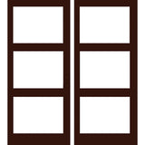 Krosswood Hemlock 3 Lite Exterior Double Door | UberDoors