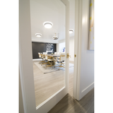 Krosswood Primed MDF Full Lite Tempered Glass Door | UberDoors