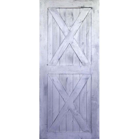 Krosswood Knotty Alder 2 Panel Double X Solid Wood Core Barn Door Slab | UberDoors