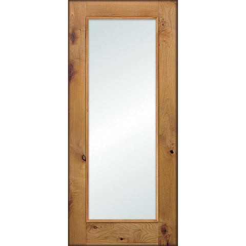 Krosswood Knotty Alder Full Lite Clear Glass Exterior Door | UberDoors