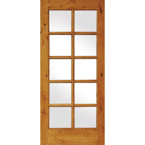 Krosswood Knotty Alder 10 Lite With LowE IG Door | UberDoors
