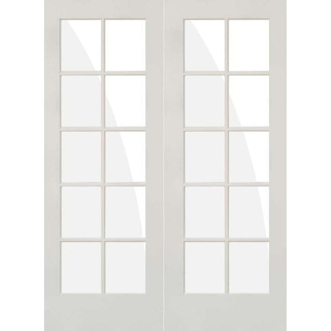 Krosswood Primed MDF 10 Lite TDL French Door | UberDoors