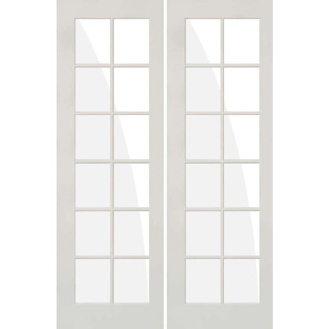 Krosswood Primed MDF 12 Lite TDL  French Doors | UberDoors