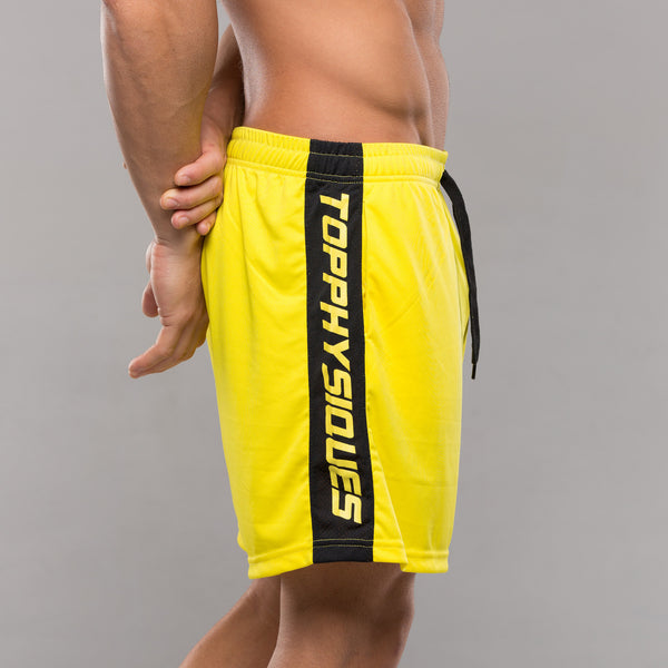 Stripe Performance Shorts - Yellow & Black