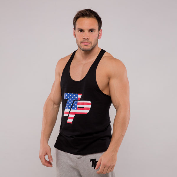 Stringer Vest - Black & USA print