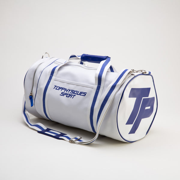Topphysiques Sports Bag - White & Navy Blue