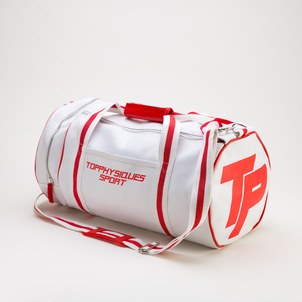 Topphysiques Sports Bag - White & Bright Red