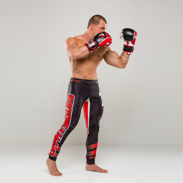Black&Red Fight Compression Pants