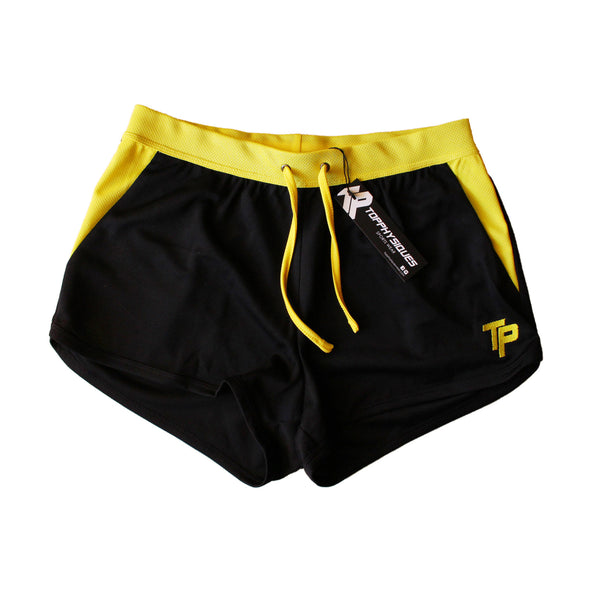 TP BodyBuilding Shorts - Black & Yellow