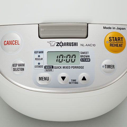 Easy-to-read LCD control panel with Clock (24H)