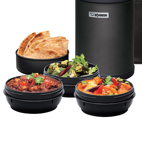 4 inner bowls including 3 soup bowls ideal for holding curry and other soups. *Inner bowls for this model are NOT microwaveable