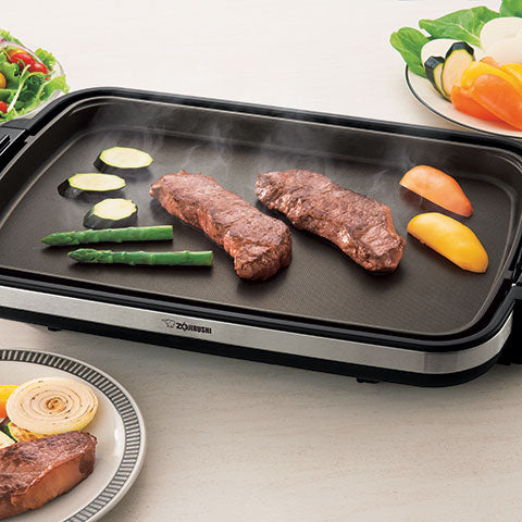"Extra large 19"" x 12-1/2"" cooking surface"