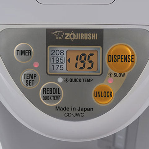 LCD control panel displays actual water temperature at all times