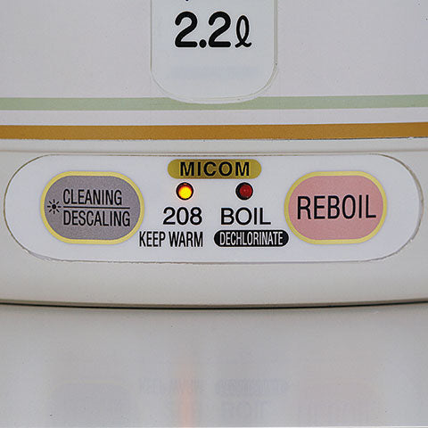 Simple controls to reboil or descale to keep the pot sparkling clean