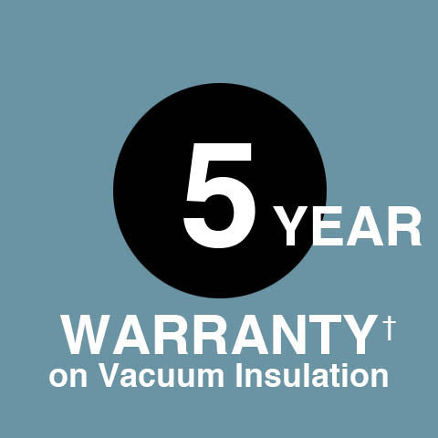 † Zojirushi America Corporation warrants only the thermal insulation of certain vacuum insulated products against defects for a period of five years from the date of original retail purchase. Product must be used within the US and Canada.