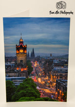 Load image into Gallery viewer, Edinburgh Princes Street - Scotland Greeting Card - Blank Inside