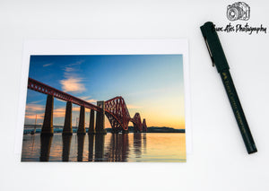 Edinburgh The Forth Bridge Greeting Card - Forth Bridge, Edinburgh Card, Edinburgh Christmas Card, Scotland - Blank Card