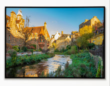Load image into Gallery viewer, Edinburgh Art Print, Edinburgh Dean Village, Scotland Photography, Travel art, Edinburgh Skyline, Edinburgh , Edinburgh Print, Wall Art