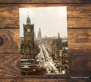 Six Edinburgh Postcards - Edinburgh Postcards - Edinburgh Card, Edinburgh Christmas Card, Scotland - Blank Card