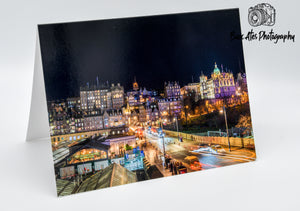 Edinburgh Old Town Greeting Card, Blank Card