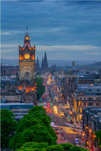 Load image into Gallery viewer, Edinburgh Art Print, Scotland Photography, Travel art, Edinburgh Skyline, Edinburgh Print, Edinburgh Mounted Print, 6'x6' Photo