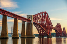 Load image into Gallery viewer, Edinburgh, Forth Bridge, Scotland Photography, Travel art, Edinburgh, Edinburgh Print, Edinburgh Mounted Print, 6'x 6' Photo